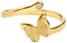 Troli pozlacený prsten s motýlkem 87 gold TO1843