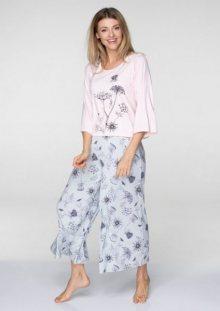 Key LNS 596 B19 pyžamo  M růžová-šedá