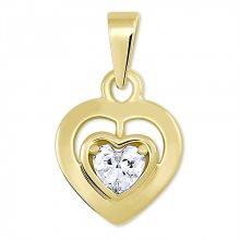 Brilio Romantický přívěsek ze žlutého zlata Srdce 246 001 00471 - 0,95 g
