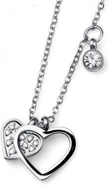 Oliver Weber Ocelový náhrdelník se srdíčky Amo 11772