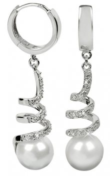 Silver Cat Stříbrné náušnice s krystaly SC030