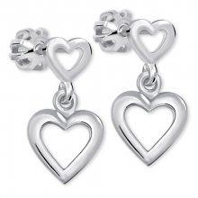 Brilio Silver Romantické náušnice ze stříbra 431 001 02610 04 - 1,53 g