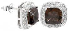 Silver Cat Stříbrné náušnice s krystaly SC132