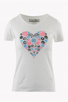 Sam 73 Dámské triko se srdcem Sam 73 bílá S
