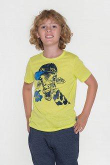 Sam 73 Chlapecké triko s krátkým rukávem Sam 73 žlutá melír neon 116