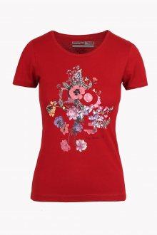 Sam 73 Dámské triko s potiskem LOVE Sam 73 růžová tmavá L