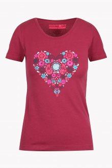 Sam 73 Dámské triko se srdcem Sam 73 malinová S