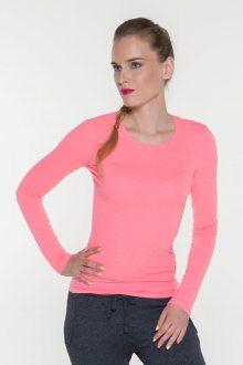Sam 73 Jednobarevné triko s dlouhým rukávem Sam 73 růžová neon S