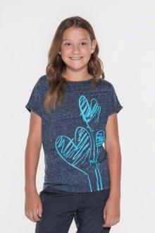 Sam 73 Dívčí triko s krátkým rukávem Sam 73 modrá tmavá 116