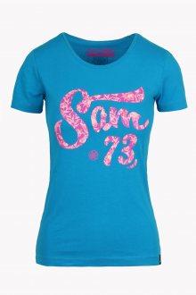 Sam 73 Dámské triko s krátkým rukávem Sam 73 modrá S
