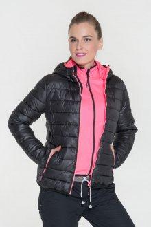 Sam 73 Dámská bunda s kapucí a kontrastními zipy Sam 73 černá S