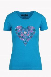 Sam 73 Dámské triko se srdcem Sam 73 modrá S