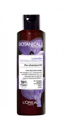 L´Oréal Paris Předšamponová péče pro citlivou pokožku hlavy Botanicals Lavender (Pre-Shampoo Oil) 150 ml