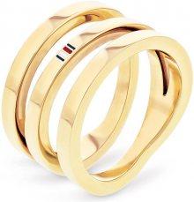 Tommy Hilfiger Pozlacený ocelový prsten TH2701100 58 mm