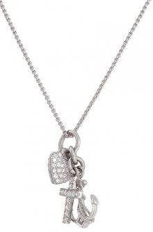 Amen Originální stříbrný náhrdelník se zirkony Faith, Hope and Charity FSC