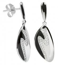Silver Cat Stříbrné náušnice s krystaly SC036