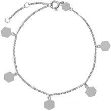 Cluse Pozlacený náramek s hexagony CLJ12018