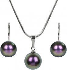 Troli Sada náhrdelníku a náušnic Pearl Iridescent Purple