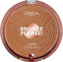 L´Oréal Paris Bronzový pudr na obličej a tělo La Terra (Bronzer) 18 g 01 Portofino Legger