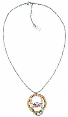 Tommy Hilfiger Ocelový náhrdelník s tricolor přívěskem TH2701077