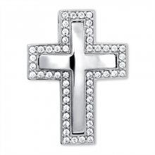 Brilio Nádherný přívěsek z bílého zlata Křížek 249 001 00242 07 - 3,70 g