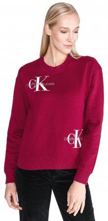Monogram Mikina Calvin Klein | Červená | Dámské | M