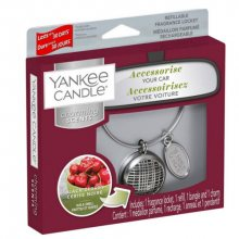 Yankee Candle Vůně do auta s pouzdrem Linear Black Cherry 90 g