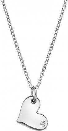 Hot Diamonds Stříbrný náhrdelník s pravým diamantem Iris DP702 (řetízek, přívěsek)