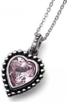 Oliver Weber Romantický náhrdelník se starorůžovým krystalem Beach Antique Heart 11731 212
