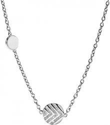 Fossil Ocelový náhrdelník s krystaly JF02674040