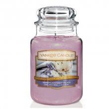 Yankee Candle Aromatická svíčka velká Levandulová zmrzlina s medem (Honey Lavender Gelato) 623 g