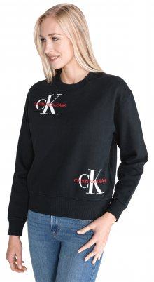 Monogram Mikina Calvin Klein   Černá   Dámské   L