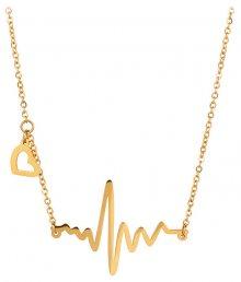 Troli Originální pozlacený náhrdelník Srdeční tep KNSC-253