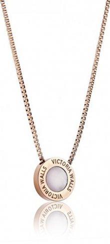 Victoria Walls Růžově pozlacený ocelový náhrdelník VN1053R