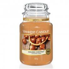 Yankee Candle Aromatická svíčka velká Pečené kaštany (Golden Chestnut) 623 g
