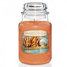 Yankee Candle Aromatická svíčka velká Grilované broskve a vanilka (Grilled Peaches & Vanilla) 623 g