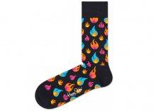 Flames Ponožky Happy Socks   Černá Vícebarevná   Pánské   36-40