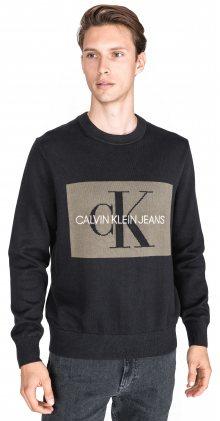 Iconic Monogram Svetr Calvin Klein   Černá   Pánské   L