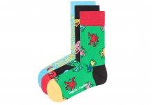 Keith Haring Ponožky 3 páry Happy Socks   Černá Modrá Zelená   Pánské   36-40