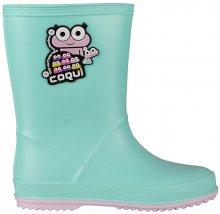 Coqui Dětské holínky Rainy Mint/Candy Pink 8505-100-4441 26