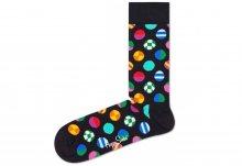 Clashing Dot Ponožky Happy Socks   Černá Vícebarevná   Pánské   41-46