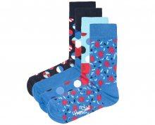 Navy Ponožky 4 páry Happy Socks   Modrá   Pánské   36-40