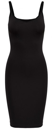 ONLY Dámské šaty Vicky Basic Long Top Acc Black M/L