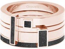 Gravelli Sada čtyř prstenů s betonem Quadrium bronzová/antracitová GJRWRGA124 50 mm