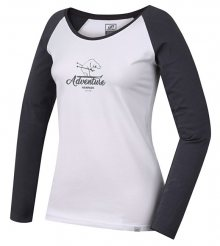 Hannah Dámské triko s dlouhým rukávem FABRIS bright white/castlerock 36