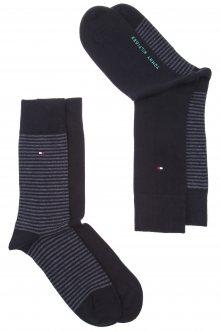 Ponožky 2 páry Tommy Hilfiger | Černá | Pánské | 39-42