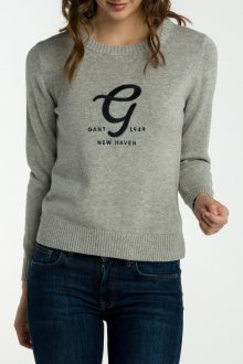 Svetr GANT O2. EMBROIDERY COTTON WOOL CREW