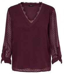 ONLY Dámská halenka ONLMACY L/S FOLD UP TOP WVN Port Royale 34