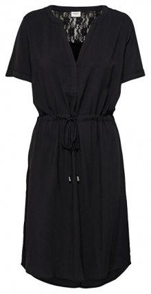 Jacqueline de Yong Dámské šaty JDYMASON S/S LACE DRESS WVN Black 36