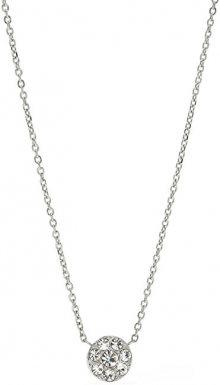 Fossil Ocelový náhrdelník s krystaly JF00844040